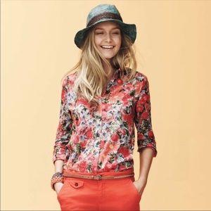 Anthro HD In Paris Hanalei Floral Buttondown Top